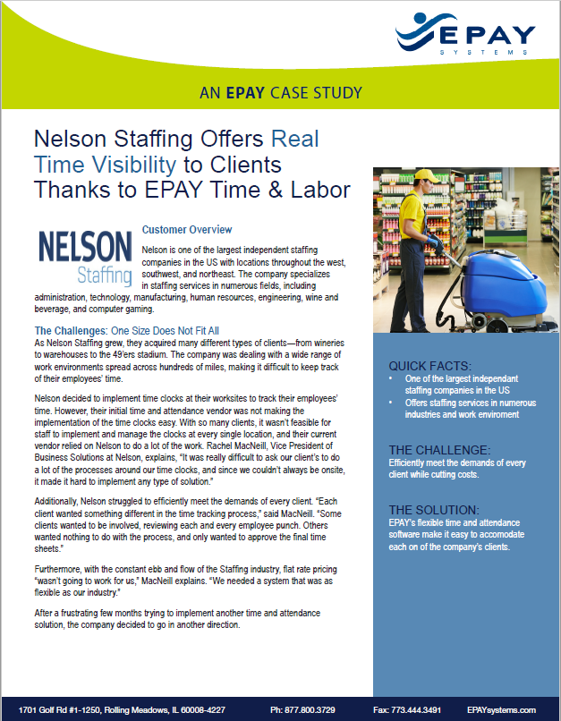 Nelson Staffing Case Study Cover