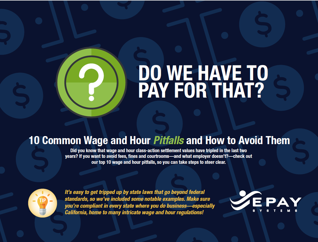 Wage and Hour Pitfalls Cover